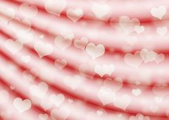 Stock Illustration of Valentine background with hearts