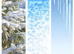 Stock Illustration of Set of winter banners