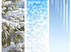 Set of winter banners Stock Illustration