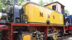 HOEDEKENSKERKE, THE NETHERLANDS - MAY 31 2014: Railway to the past 2014. Stock Footage