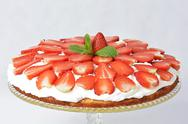 Stock Photo of strawberry cake