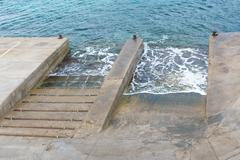 Boat launch ramps Stock Photos