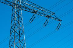 Transmission tower Stock Photos