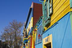 caminito, la boca district, buenos aires, argentina - stock photo