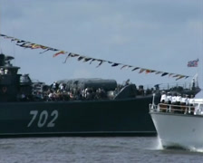 Naval parade in Baltysk (2003) - 02 Stock Footage