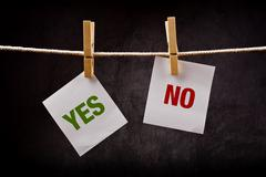 Yes and no concept Stock Photos