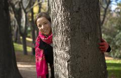 The autumn smile Stock Photos