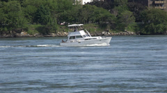 Motor Yachts, Luxury Power Boats Stock Footage
