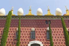 facade of dali museum in figueres - stock photo