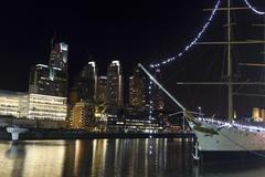 Puerto madero by night, buenos aires Stock Photos