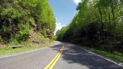Smoky Mountain National Park Empty Road - stock footage