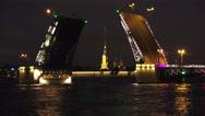 Stock Video Footage of Palace drawbridge. Saint-Petersburg. 4K.