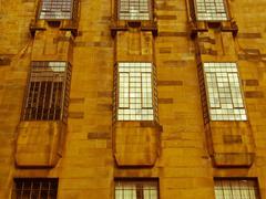 Retro look Glasgow School of Art - stock photo