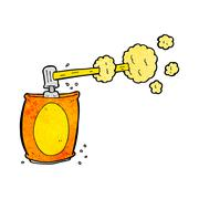 cartoon aerosol spray can - stock illustration