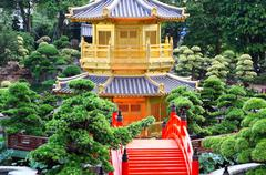 Pavilion of Absolute Perfection in the Nan Lian Garden, Hong Kong. Stock Photos