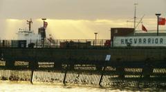 Light shines down on English historic ship yard Stock Footage