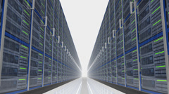Mysterious Data Server Center - stock footage