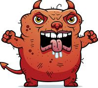 Angry ugly devil Stock Illustration