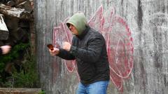 Man with broken glass beer bottle episode 3 Stock Footage