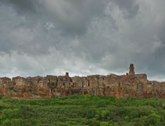 Pitigliano, Tuscany - time lapse 4k video Stock Footage