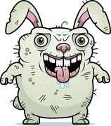 Ugly bunny standing Stock Illustration