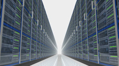 Mysterious Data Server Center 4K Stock Footage