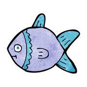 cartoon fish - stock illustration