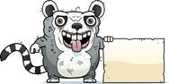 Ugly lemur sign Stock Illustration