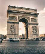 Arc de Triomphe in Winter Stock Photos