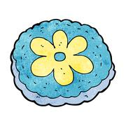 Stock Illustration of cartoon baked biscuit