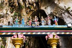 Statue of god at Batu caves, Kuala-Lumpur, Malaysia - stock photo