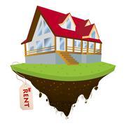 House for rent Stock Illustration