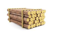 Stack of pine logs Stock Illustration