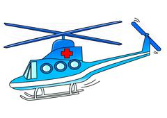 Rescue helicopter - stock illustration