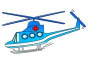 Stock Illustration of Rescue helicopter