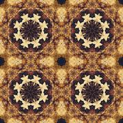 Stock Illustration of Seamless floral ornament, bark on fabric