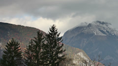 The Triglav in the Alps in Slovenia Stock Footage