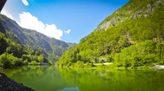 Sava Bohinjka river, Julian Alps, Slovenia Stock Footage