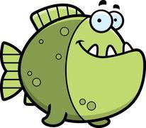 Cartoon piranha smiling Stock Illustration