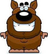 Smiling cartoon werewolf Stock Illustration