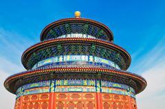 Temple of Heaven in Beijin - stock photo