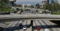 4K Freeway Traffic 14 Los Angeles Downtown Footage