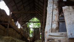 4K Barn Entrance Time Lapse Stock Footage
