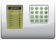 The panel of the security system Stock Illustration