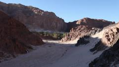 Panoramic view of Ain Khudra from the White Canyon, Sinai desert Stock Footage