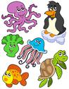 Stock Illustration of Aquatic animals collection 2
