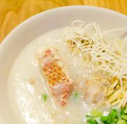 rice gruel fish , congee  chinese food - stock photo