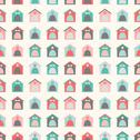 Stock Illustration of Animal seamless vector pattern of kennel