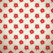 Floral fashionable vector seamless patterns (tiling) - stock illustration