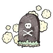 Stock Illustration of cartoon grave